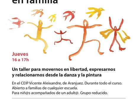 Taller de Movimiento y creación en Familia en el Vicente Aleixandre