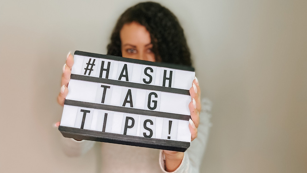 hashtag tips letter board