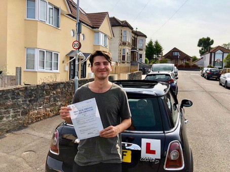 Congratulations Alex on passing your driving test so well and First Time.