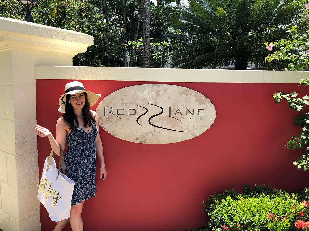 The sign at the Red Lane Spa Sandals