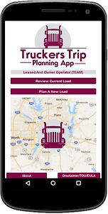 Team Lease and Owner Operator Truckers Trip Planning App