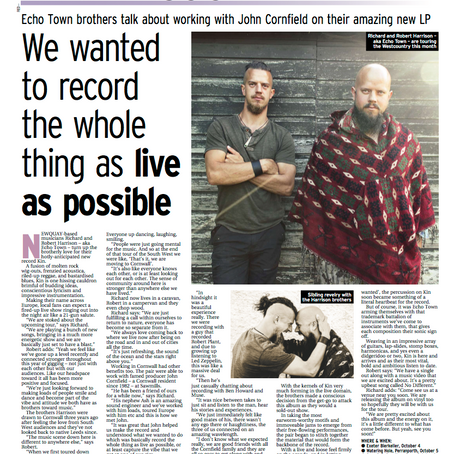Interview in What's On Cornwall