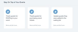 Автоматизации для Wix Events — отправка триггерных емэйлов