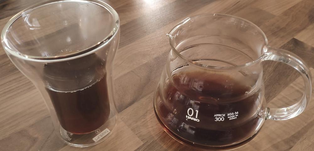 Dégustez votre café préparé avec la cafetière Hario V60