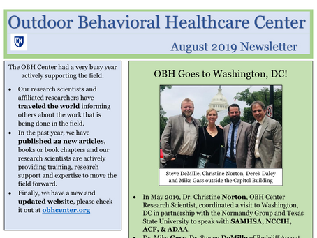 Outdoor Behavioral Healthcare Center Newsletters