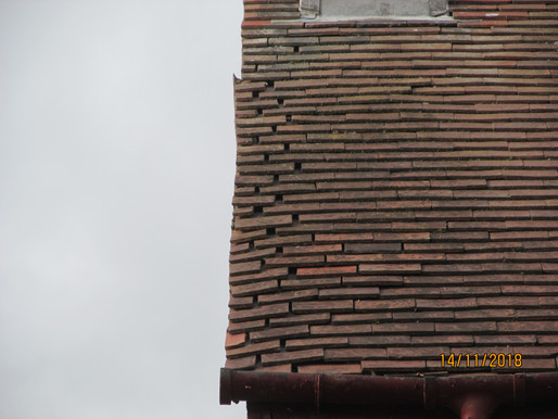 Gable verge about to collapse