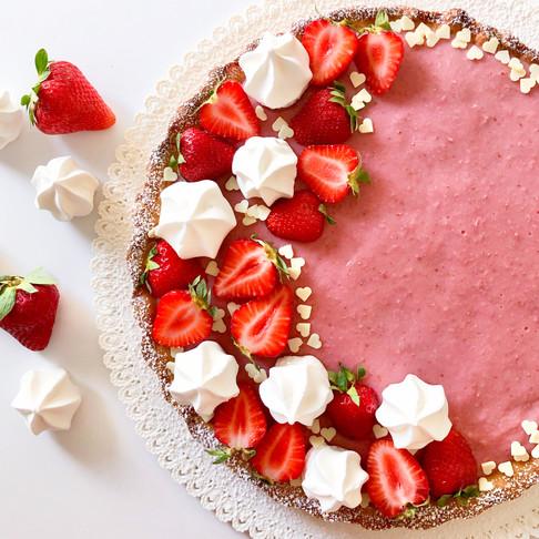 Torta fresca alla crema di fragole