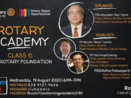 Rotary Academy Class 6