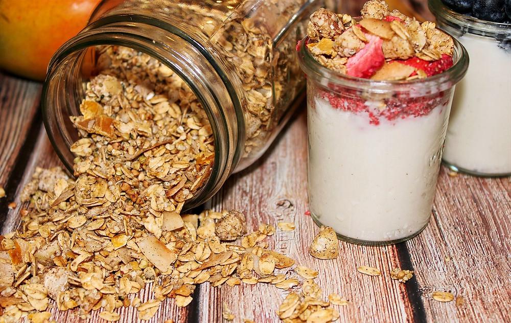 Homemade oil free granola