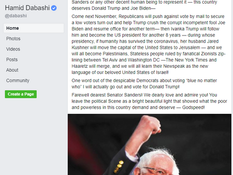 Hamid Dabashi Proves Bollinger Wrong!