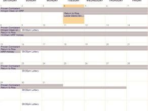 STO and SRS Calendar