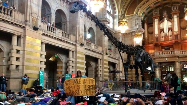 Extinction Rebellion Scotland protest