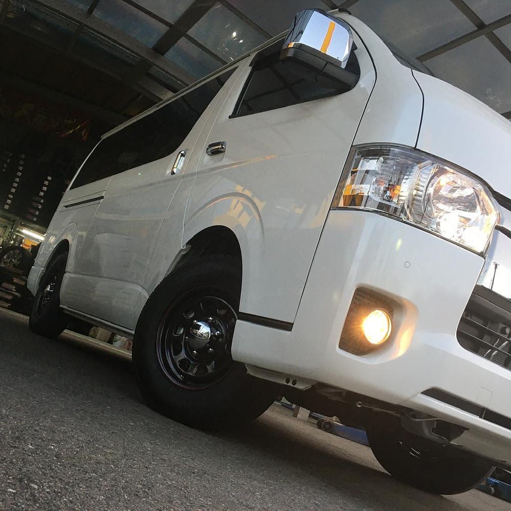 トヨタ ハイエース 200系 デイトナ ブラック 新車装着タイヤ 15インチ 6.5J レジアスエース DAYTONA