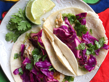 Fish Tacos with Citrus Slaw