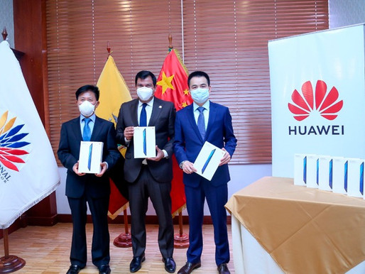 Asamblea y Huawei entregarán dispositivos electrónicos a estudiantes de escasos recursos
