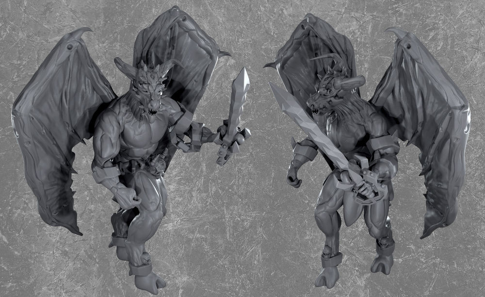 Balor demon resin miniature (D&D) from Mystic Pigeon Gaming