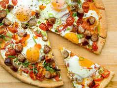 All in One Breakfast Pizza