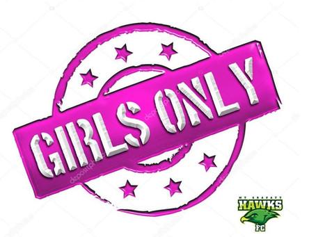 Hawks Extends Girls Only Football Program