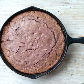 Organic Heirloom Blue Cornbread (Gluten Free + Dairy Free Options)