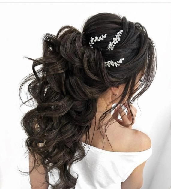 half up half down hairstyle for brides and weddings long hair extensions