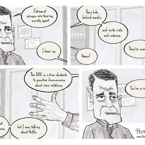 Libertoonian 'Antifa' Cartoon