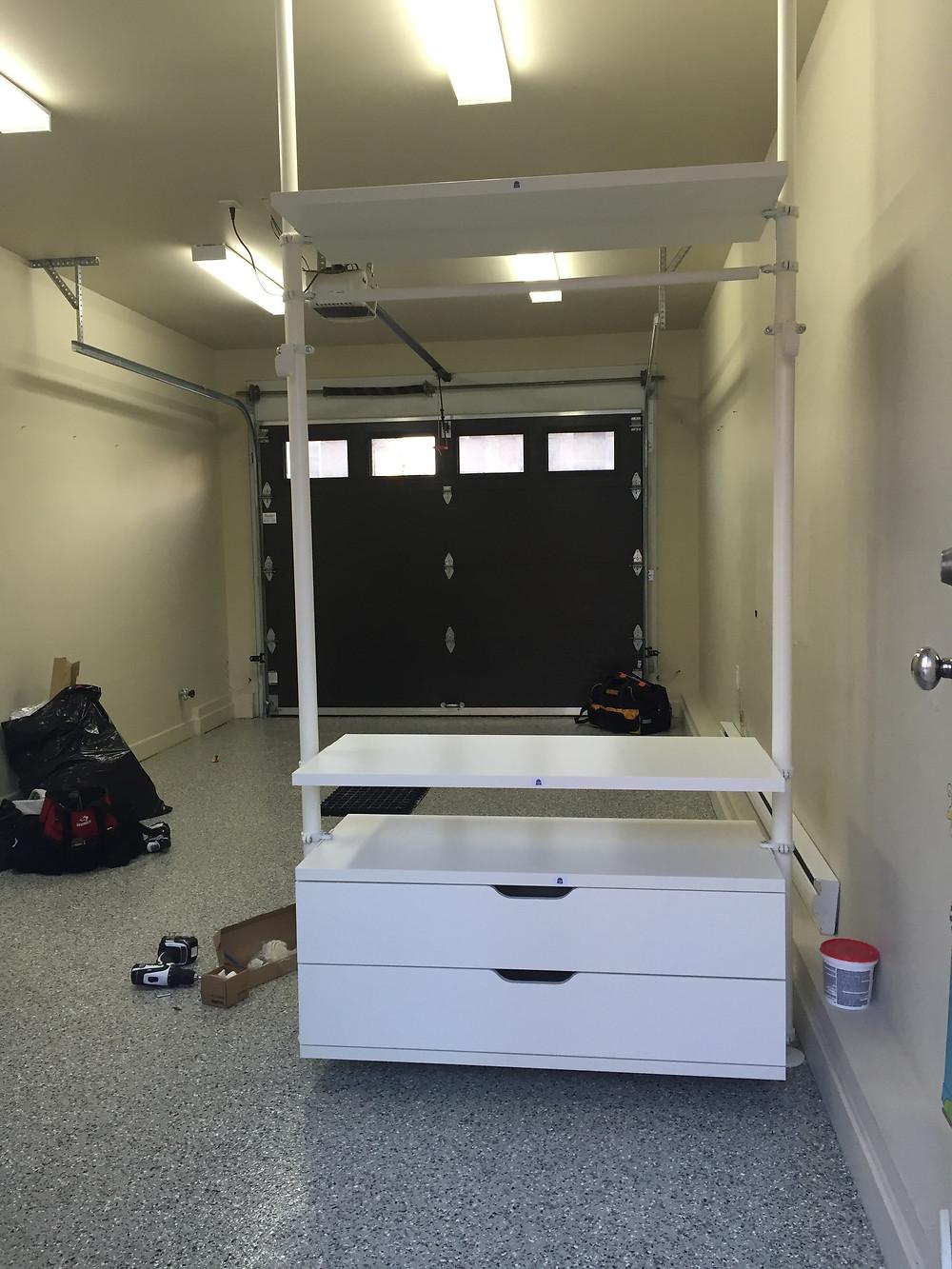 Installation d'étagère à Québec 5
