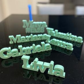 Novidade!!! Topo de Bolo Impresso em 3D! Agora você enconta arquivos STL para impressão 3D na Loja!!