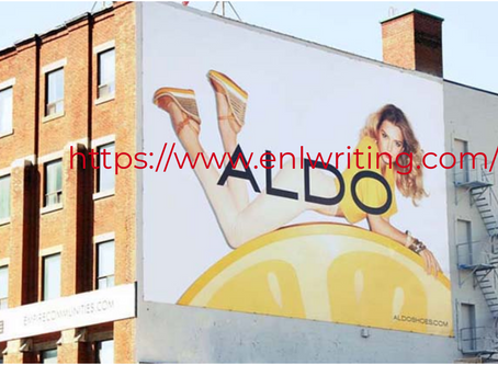 Description of a print advertisement (outdoor ad)