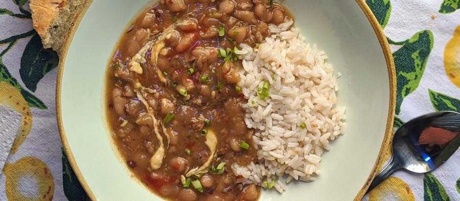 Creamy Cajun White Beans and Rice
