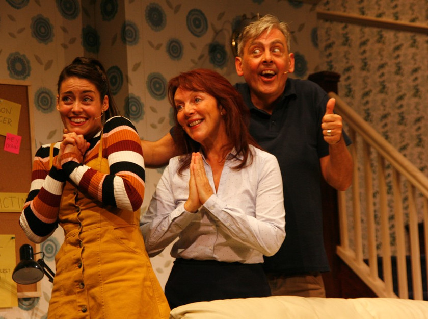 The cast of The Menlove Avenue Murder Mystery at Liverpool's Royal Court Theatre