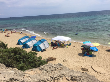Höchster Feiertag - alle am Strand
