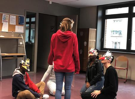 Intervention et partage du processus de création au Lycée Prony d'Asnière sur Seine