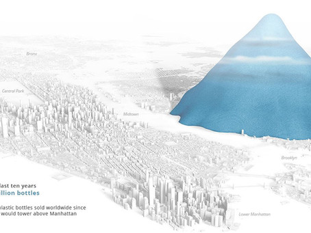 Oakmount and Partners Ltd. The Scale of Plastic Bottle Waste Against Major Landmarks.