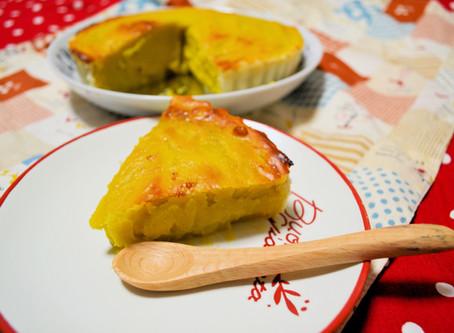 サツマイモ&かぼちゃのパイ(バガス入り)♪