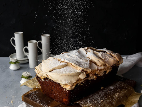 Apple and Honey Loaf Topped with Vanilla Meringue