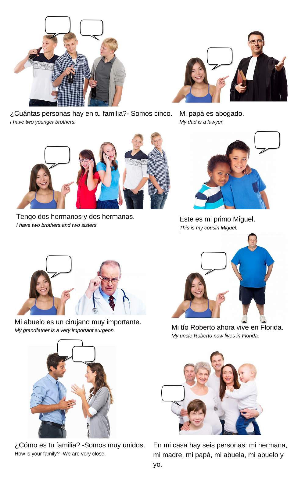 Talking About Your Family in Spanish