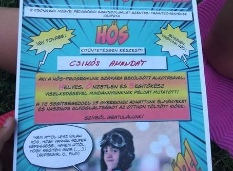 """""""Az én hősöm"""" - díjazás (2020.)"""