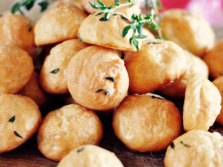 Gruyère & thyme gougères (a.k.a. cheese puffs)