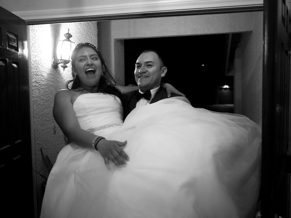 Carrying the bride across the threshold