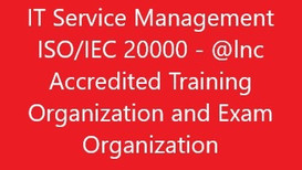 IT Service Management ISO/IEC 20000 Accredited Training Organization - Exin