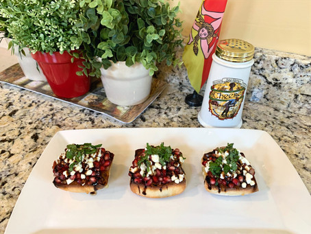 Angela's Fall Pomegranate Bruschetta