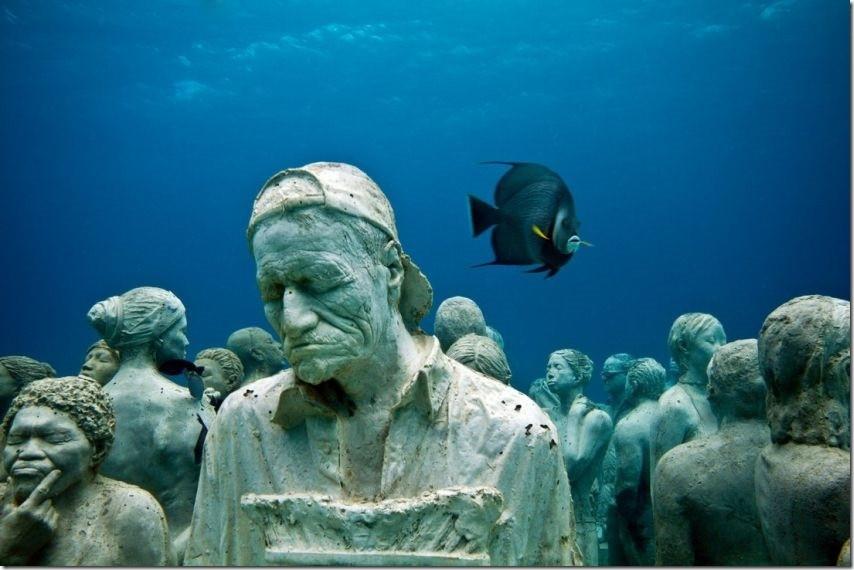 sculptures sous l'eau cancun