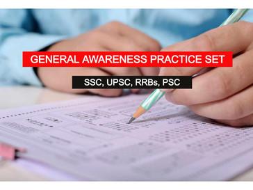 জেনারেল অ্যাওয়ারনেস প্র্যাকটিস সেট - for SSC CGL, CHSL, RRB, PSC   BBPS004