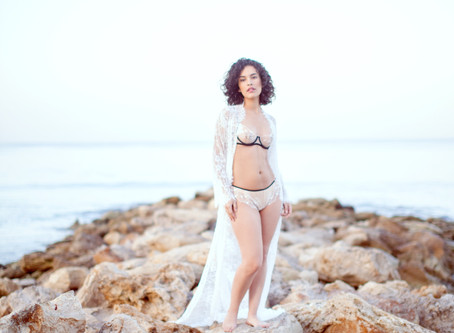 Bridal Boudoir Session on the Beach