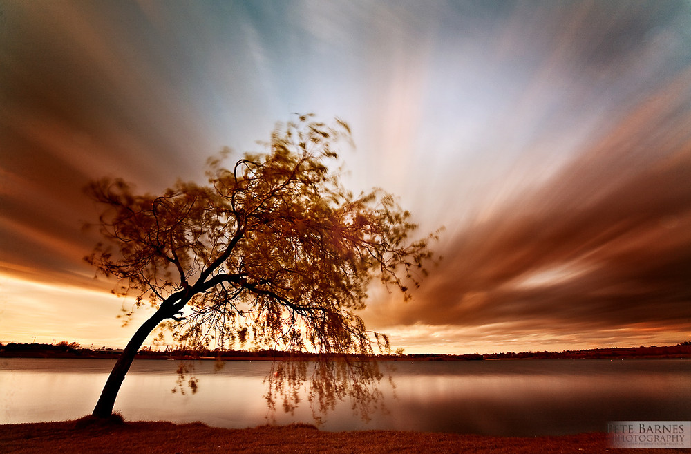 Long exposure Landscape photo of a tree near Wakefield