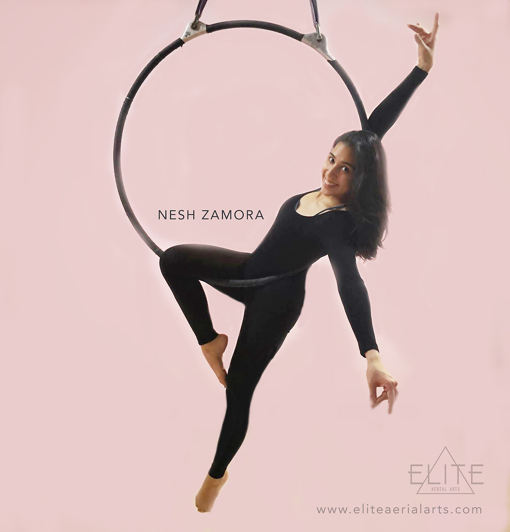 Aerial Hoop class at Elite Aerial Arts with Nesh Zamora