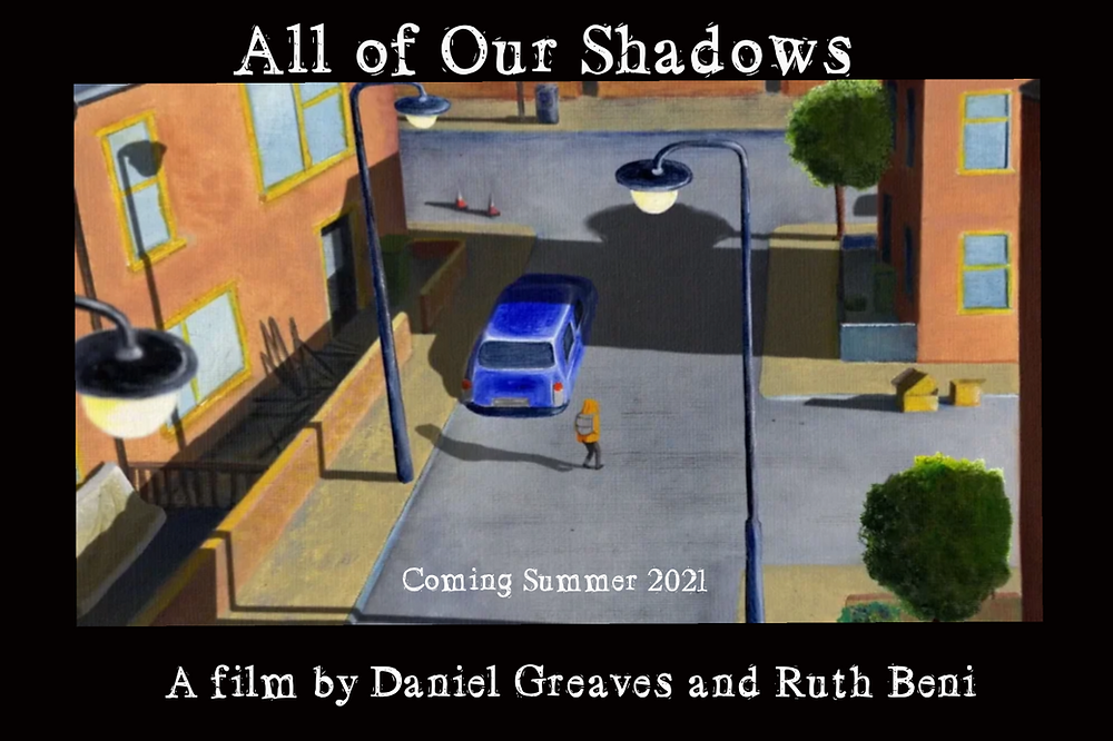 Poster for All of Our Shadows showing animation.