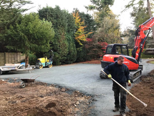 Hard landscaping - construction phase