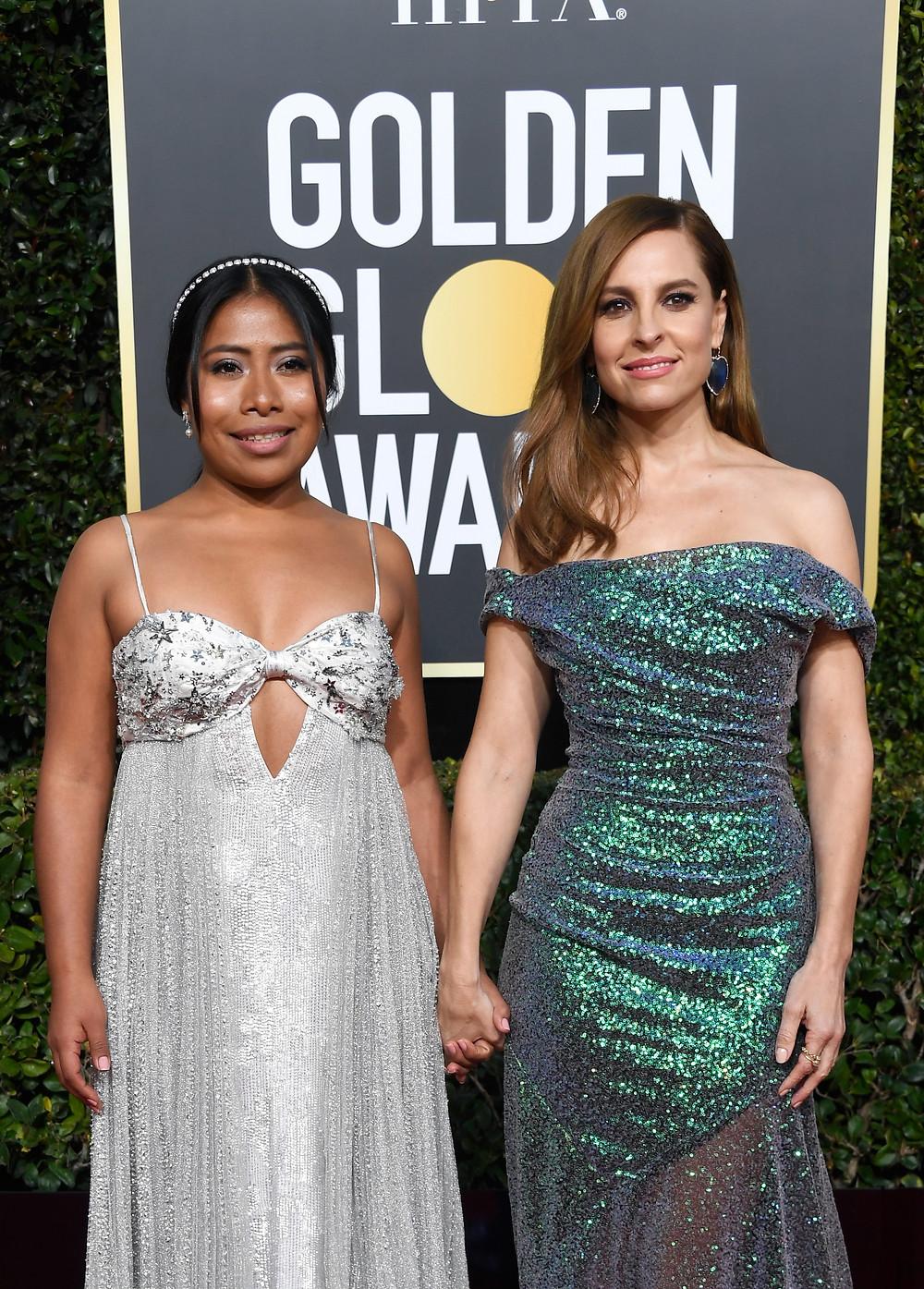 Yalitza Aparicio y Marina De Tavira Golden Globes