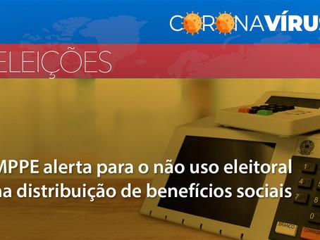 MPPE alerta para o não uso eleitoral na distribuição de benefícios sociais